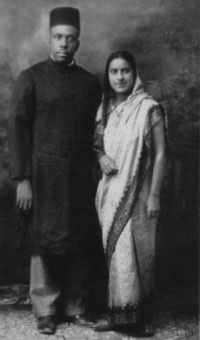 Howard Thurman and Sue Bailey Thurman in India, 1935