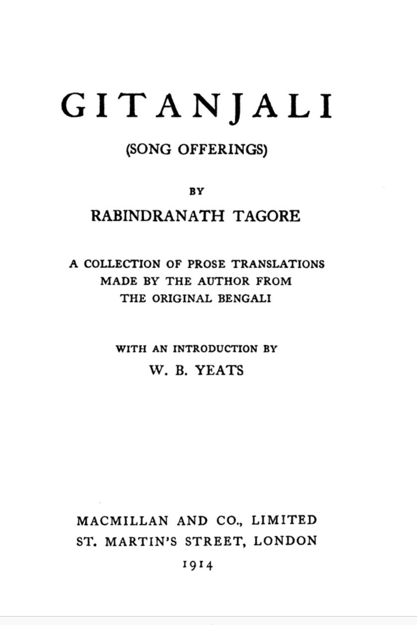 Tagore's Gitanjali – MINERVA'S PERCH